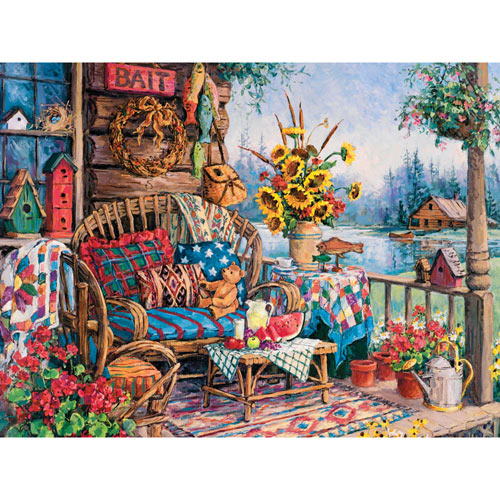The Lodge 300 Large Piece Jigsaw Puzzle