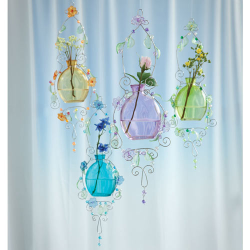 Pastel Glass Rooter Hanging Vases