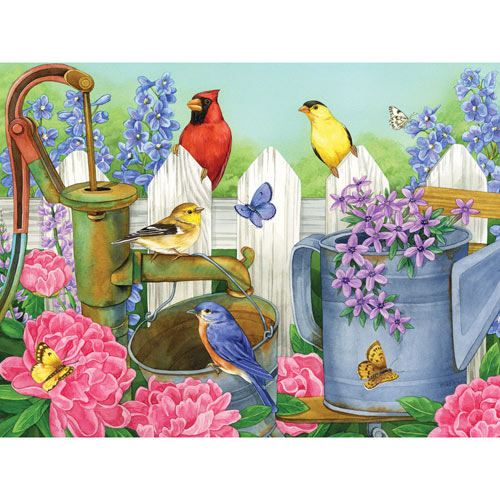 Peonies Pump 300 Large Piece Jigsaw Puzzle