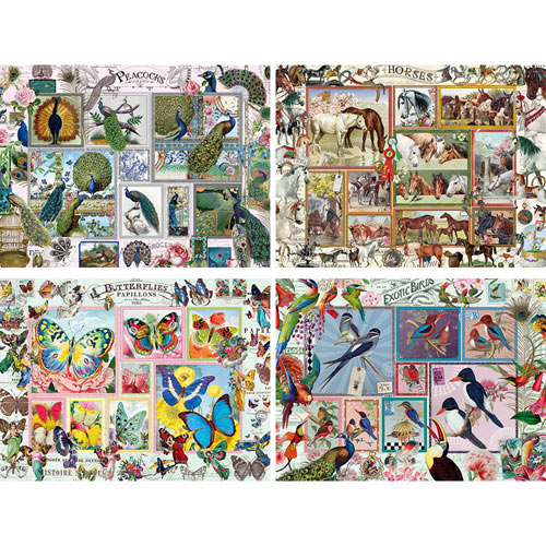 Set of 4: Barbara Behr 500 Piece Jigsaw Puzzles
