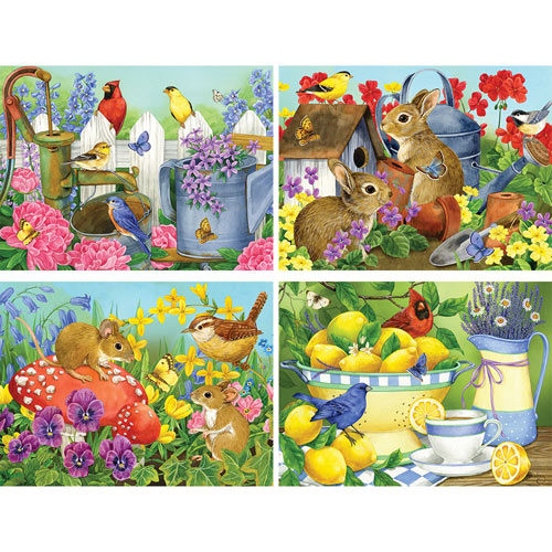 Set of 4: Jane Maday 500 Piece Jigsaw Puzzles