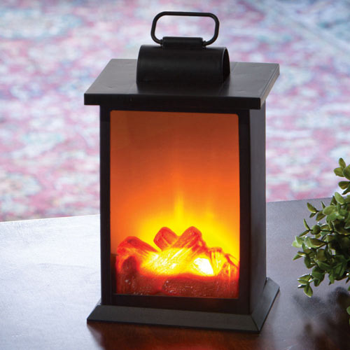 Fireplace LED Decorative Lantern