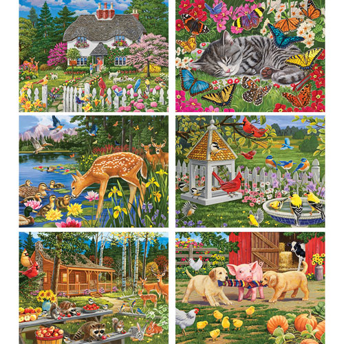 Set of 6: William Vanderdasson 300 Large Piece Jigsaw Puzzles