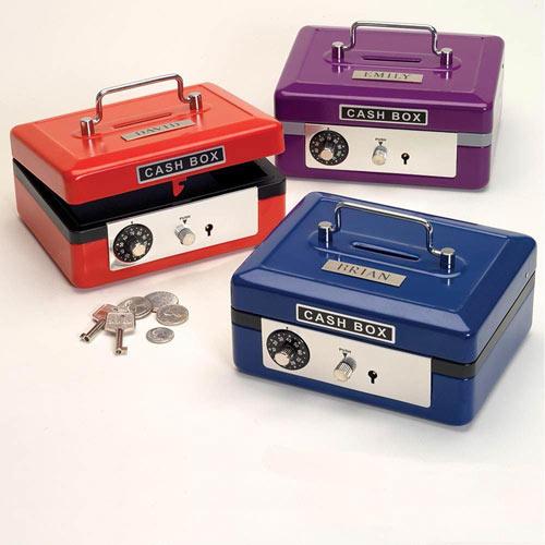 Personalized Cash Box - Blue