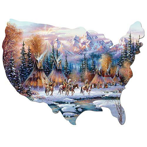 Home of the Brave 750 Piece Shaped Jigsaw Puzzle