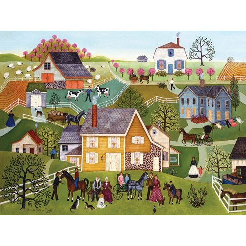 Yellow House 300 Large Piece Jigsaw Puzzle