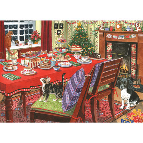 Christmas Tea 500 Piece Jigsaw Puzzle