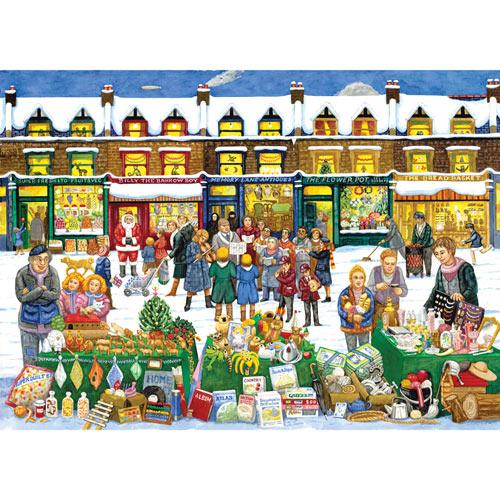 Alphabet Christmas Market 300 Large Piece Jigsaw Puzzle