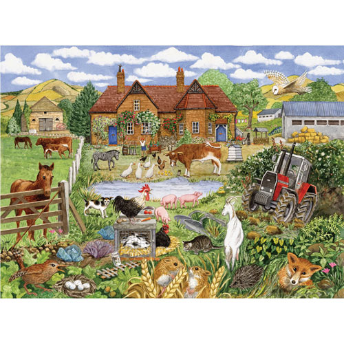 Alphabet Farm Yard 500 Piece Jigsaw Puzzle