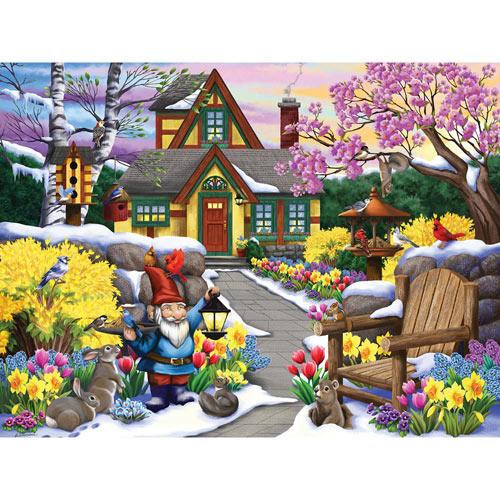 Winter Garden Friends 300 Large Piece Jigsaw Puzzle