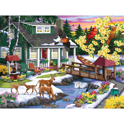 A Place In the Woods 300 Large Piece Jigsaw Puzzle