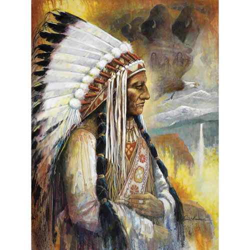 Spirit of the Sioux Nation 500 Piece Jigsaw Puzzle