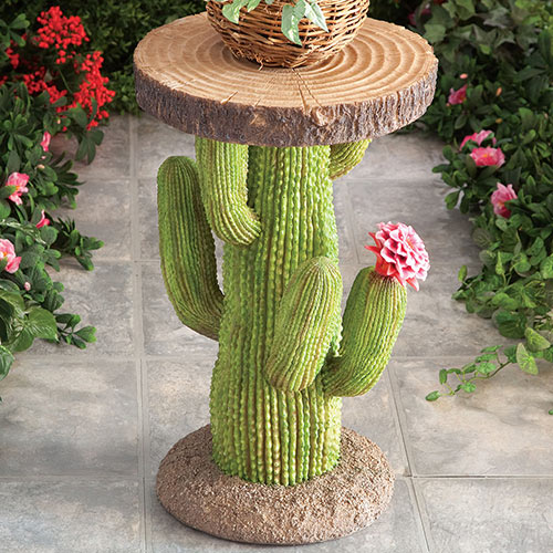 Southwest Cactus Side Table