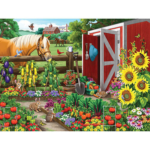 Veggie Garden Visitors 300 Large Piece Jigsaw Puzzle
