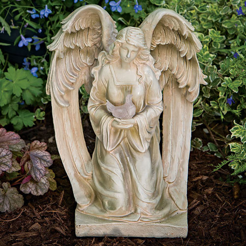Angel And Dove Decorative Garden Statue