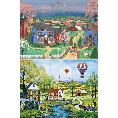 Set of 2: Mary Ann Vessey 300 Large Piece Jigsaw Puzzles