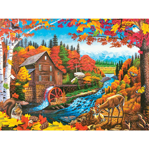 Autumn Mill 300 Large Piece Jigsaw Puzzle