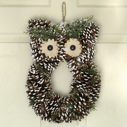 Snowy Owl Wreath