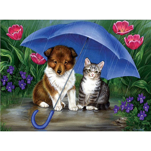 Shower Me With Love 300 Large Piece Jigsaw Puzzle