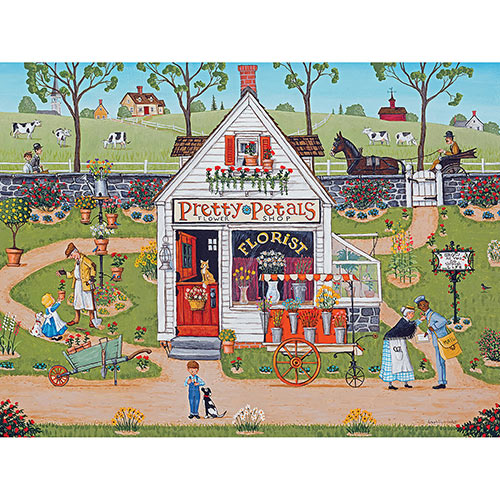 Pretty Petals Flower Shop 300 Large Piece Jigsaw Puzzle