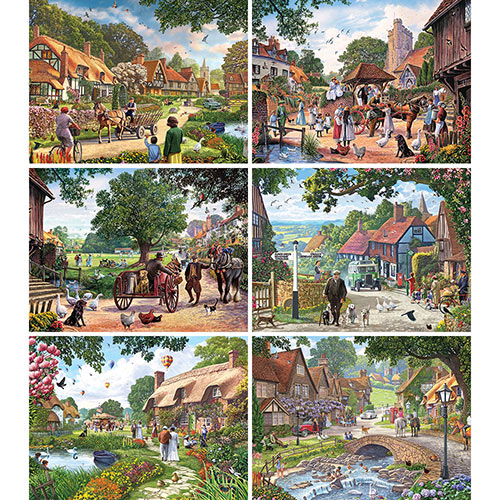 Set of 6: Steve Crisp 500 Piece Jigsaw Puzzles