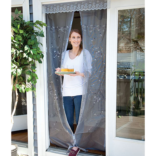 Embroidered Instant Screen Door