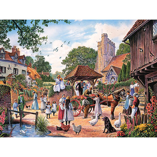 A Village Wedding 500 Piece Jigsaw Puzzle