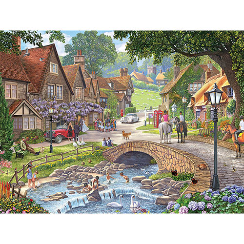 Summer Village Stream 500 Piece Jigsaw Puzzle