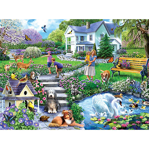 Lily Pond 300 Large Piece Jigsaw Puzzle
