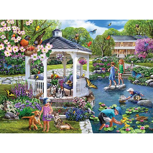 Gazebo Gardens 1000 Piece Jigsaw Puzzle