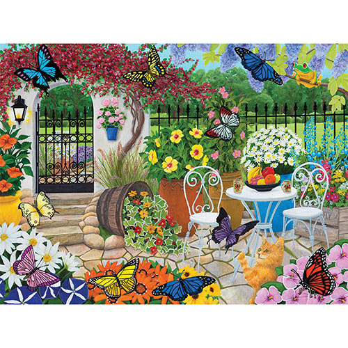 Butterfly Garden 300 Large Piece Jigsaw Puzzle