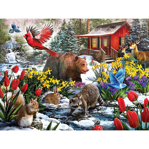 Winter Woods 500 Piece Jigsaw Puzzle