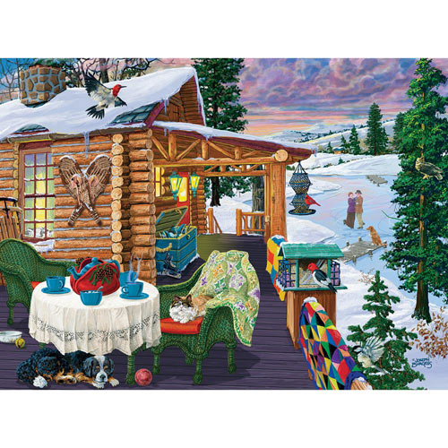 Twilight Skaters 1000 Piece Jigsaw Puzzle