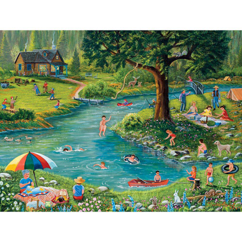 Fun at the Lake 300 Large Piece Jigsaw Puzzle