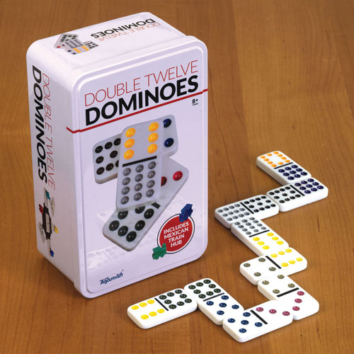 Double Dominoes Set With Train Pieces
