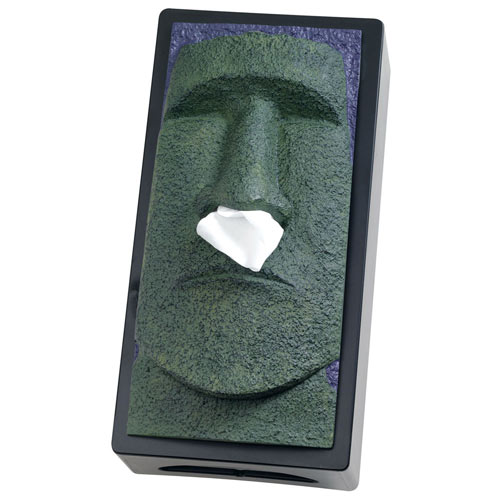 Stone Face Tissue Holder