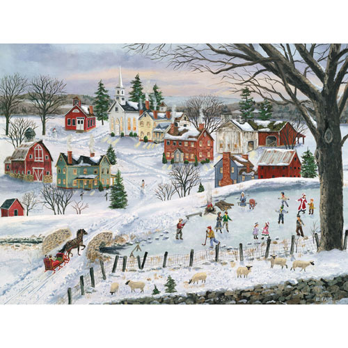 The Red Sleigh 500 Piece Jigsaw Puzzle
