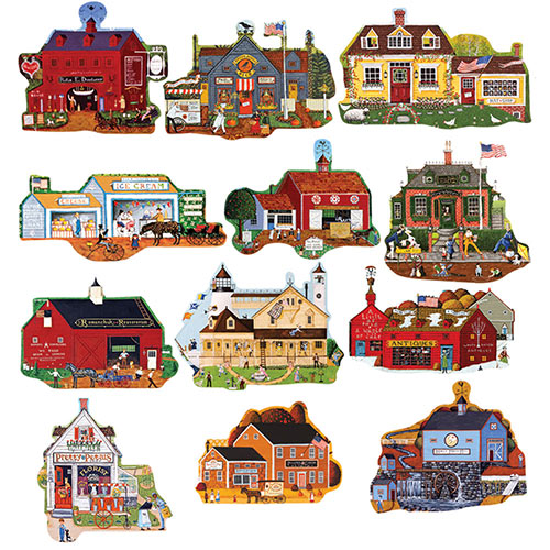 Main Street Mini 500 Piece Shaped Jigsaw Puzzles