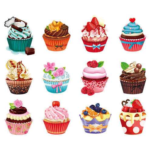 Mini Shaped Cupcake 500 Piece Jigsaw Puzzles