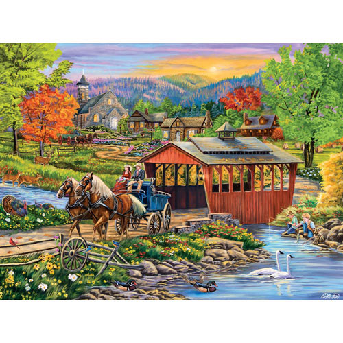 Twilight Bridge 500 Piece Jigsaw Puzzle