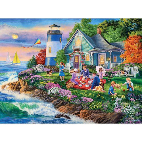 Lighthouse Picnic 1000 Piece Jigsaw Puzzle