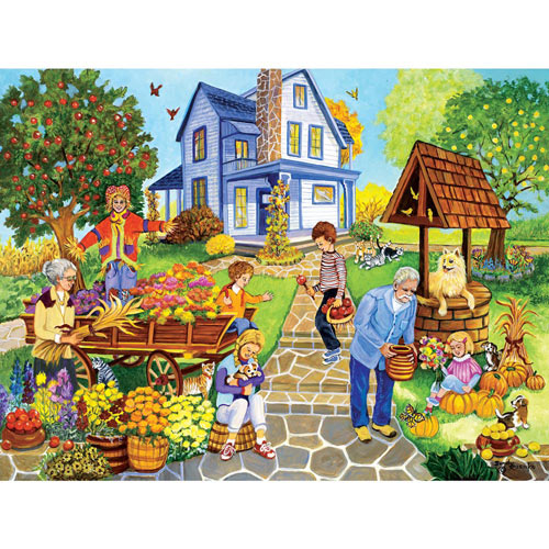 Decorating for Fall 300 Large Piece Jigsaw Puzzle