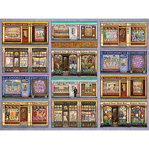 Shopping In London II 300 Large Piece Jigsaw Puzzle