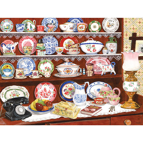 Grandma's China 500 Piece Jigsaw Puzzle