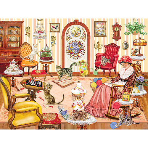 Grandma's Cat Nap 1000 Piece Jigsaw Puzzle