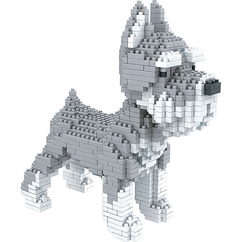 Dog Breed 3-D Block Puzzle- Schnauzer