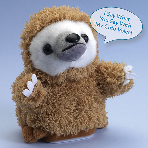 Talk Back Sloth Talking Plush Toy