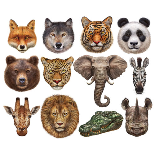 Wild Animals Mini Shaped 500 Piece Jigsaw Puzzles
