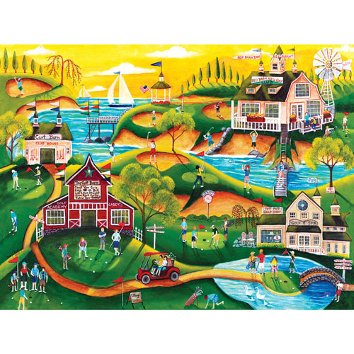 Red Barn Hill Golf Resort 1000 Piece Jigsaw Puzzle
