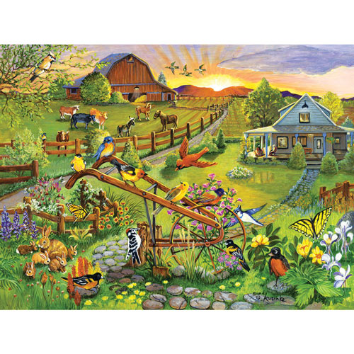 Birds, Blooms And Barns 300 Large Piece Jigsaw Puzzle